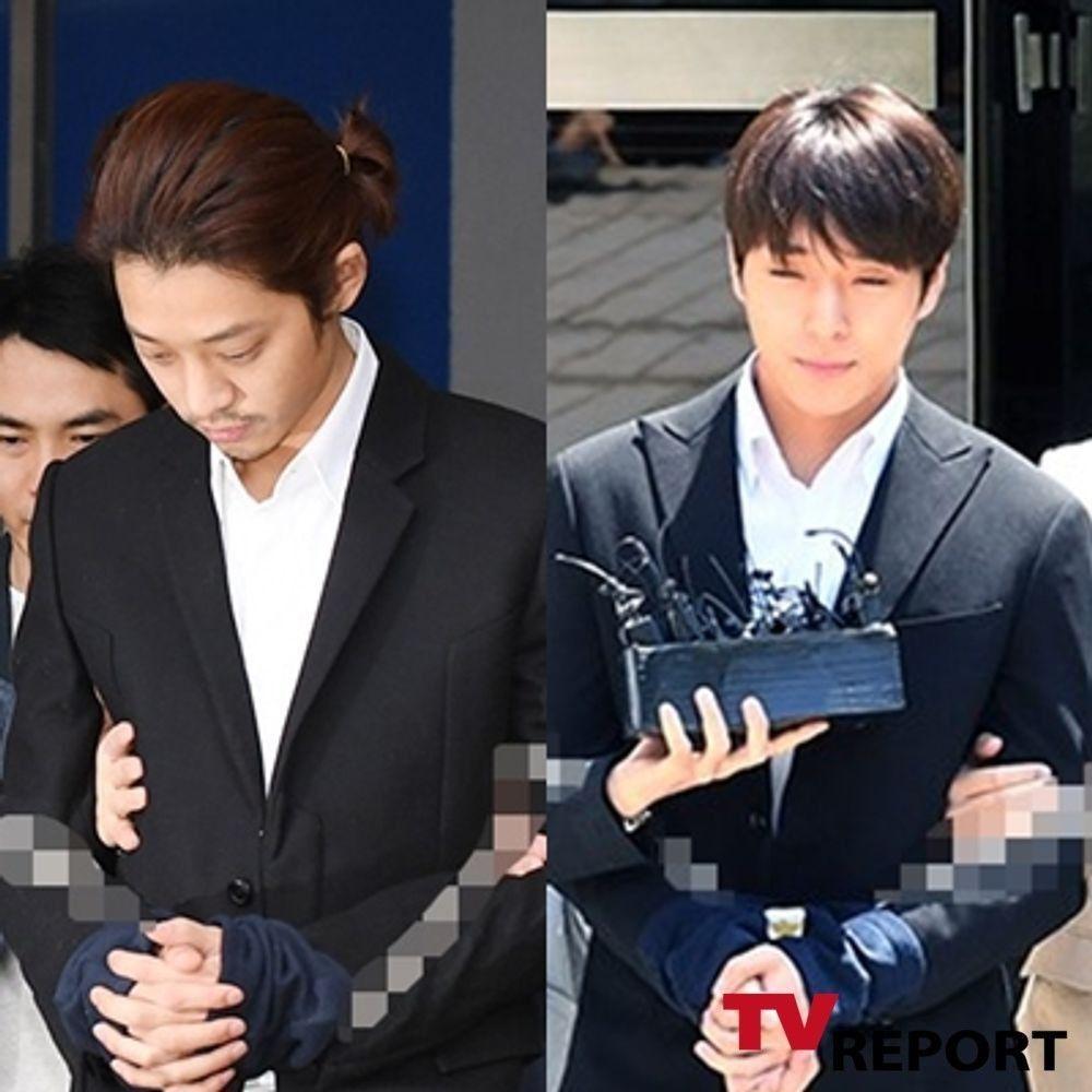 '집단 성폭행 혐의' 정준영·최종훈, 징역 5년·2년 6개월 실형...항소심서 감형