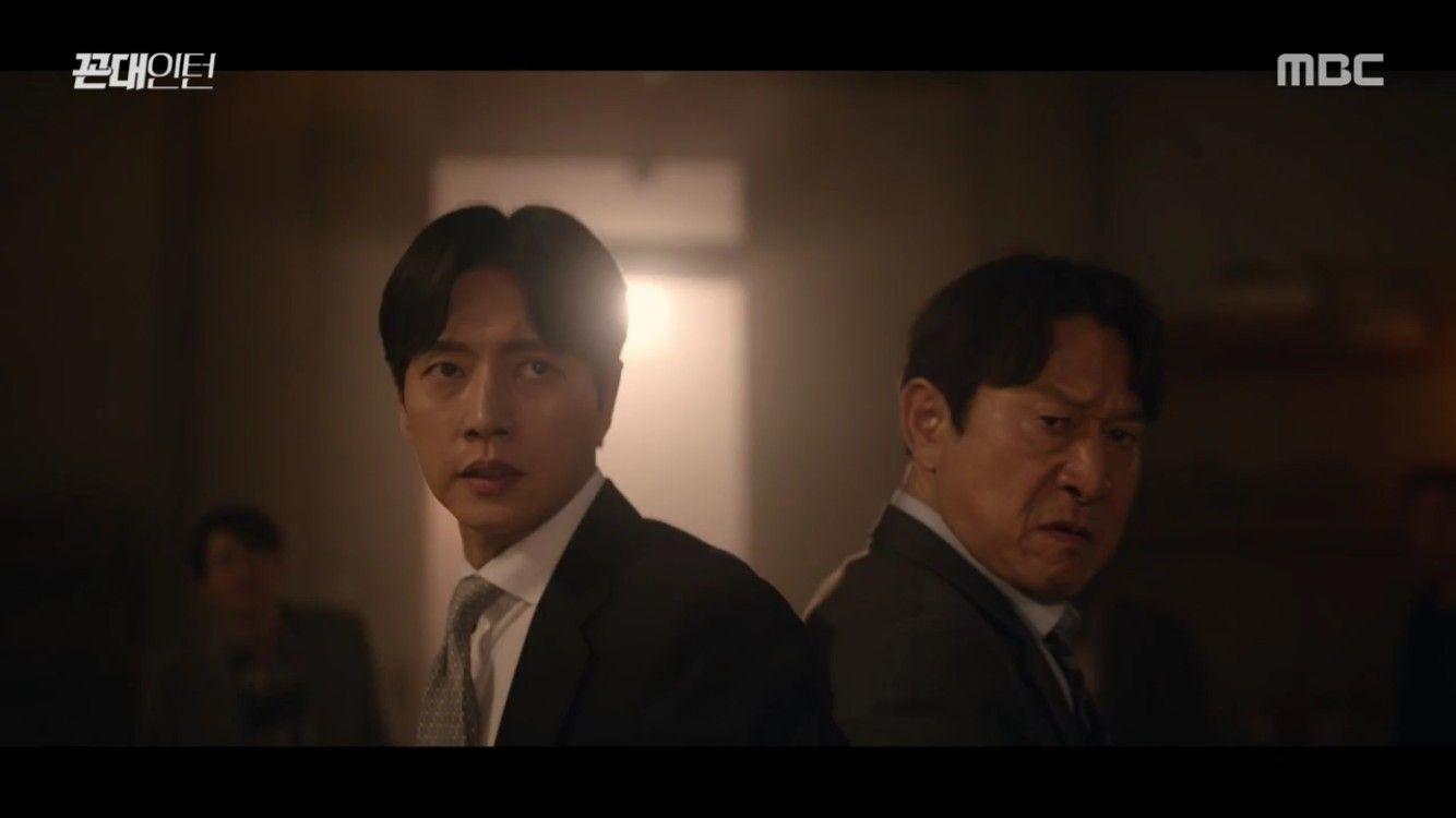 """'꼰대인턴' 박해진, 김응수 """"살려줘"""" 문자에 상무이사 면접 포기"""