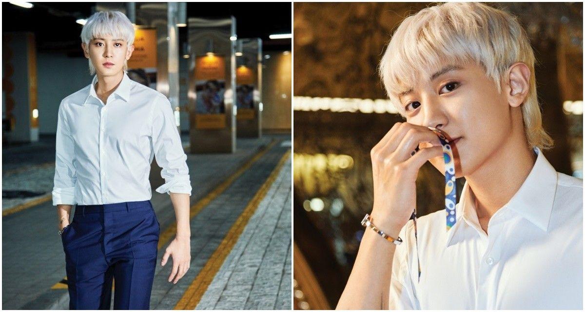 EXO-SC 찬열, 한밤중에도 열일 중... 일상이 화보