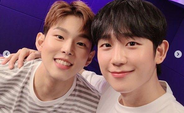 """폴킴X정해인, 조각미남들의 안구정화 찐친샷 """"해인아, 고마워"""""""