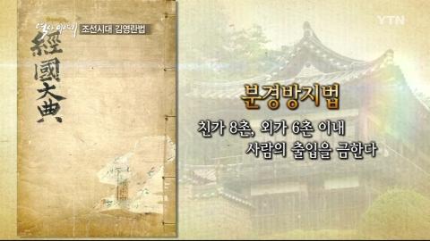 조선시대 김영란법, 분경방지법