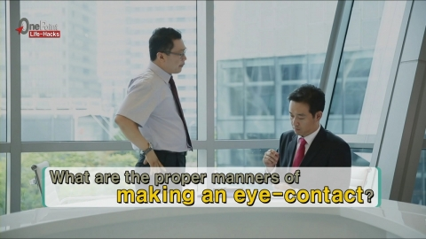 How to make a Proper Eye-Contact