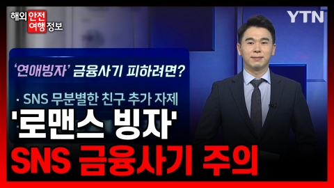 '로맨스 빙자' SNS 금융사기 주의