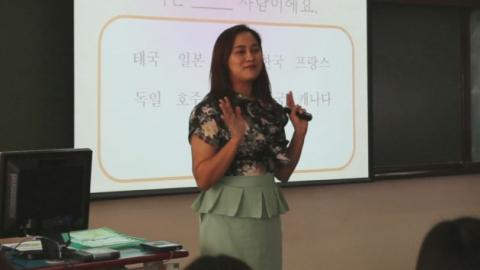 독학으로 한국어 가르치는 태국인 '어이' 교수