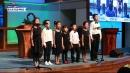 동요 부르며 한글 배우는 동포 어린이들