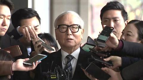 '청와대 뇌물' 이병호 前 원장 검찰 소환