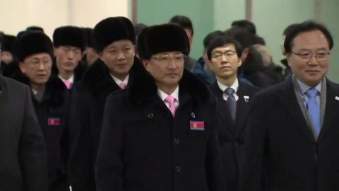 '마식령 스키 공동훈련' 북한측 선수단 귀환