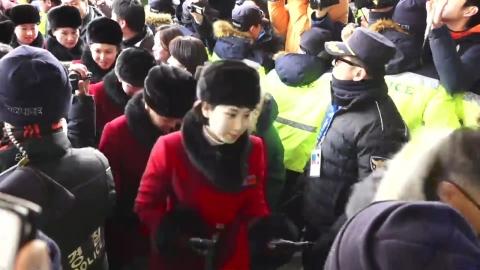 북한 응원단 280명 인제 스피디움 도착
