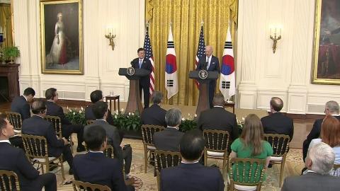 문 대통령·바이든, 한미정상회담 공동 기자회견