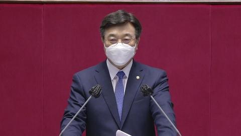 윤호중, 교섭단체 대표 연설…개혁 과제 의지 표명