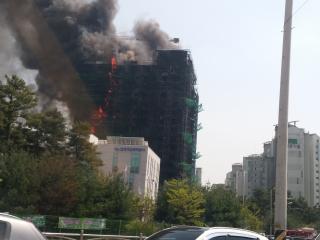 청주 가경동 신축오피스텔 화재