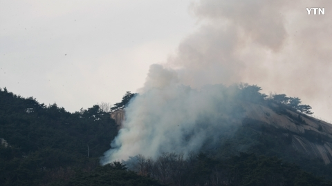 [사고현장] 인왕산 화재발생 소방헬기출동